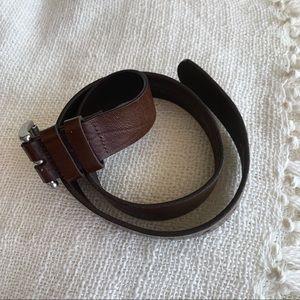 Dark brown genuine leather bell